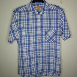 Boss Hugo Boss Blue and White check shirt